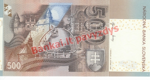 500 Korunų banknoto galinė pusė