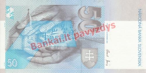 50 Korunų banknoto galinė pusė