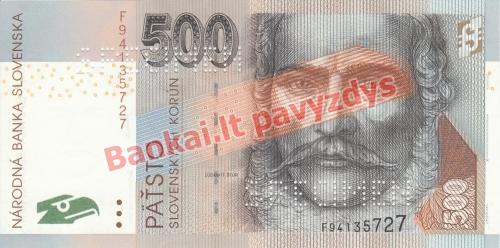 500 Korunų banknoto priekinė pusė