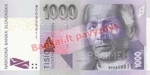 1000 Korunų banknoto priekinė pusė