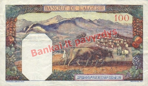 100 Frankų banknoto galinė pusė