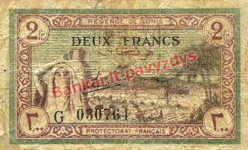 2 Frankų banknoto priekinė pusė