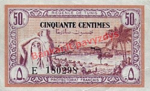 50 Centimų banknoto priekinė pusė