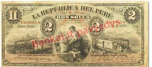 2 Solių banknoto priekinė pusė