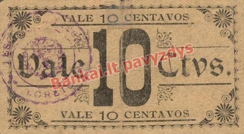10 Centavų banknoto galinė pusė