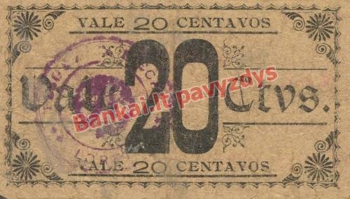 20 Centavų banknoto galinė pusė