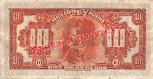 10 Solių banknoto galinė pusė