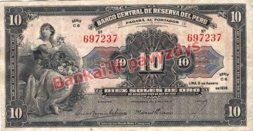 10 Solių banknoto priekinė pusė