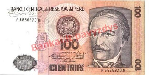100 Inčių banknoto priekinė pusė