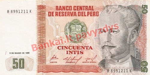 50 Inčių banknoto priekinė pusė