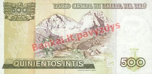 500 Inčių banknoto galinė pusė