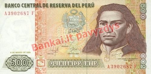 500 Inčių banknoto priekinė pusė