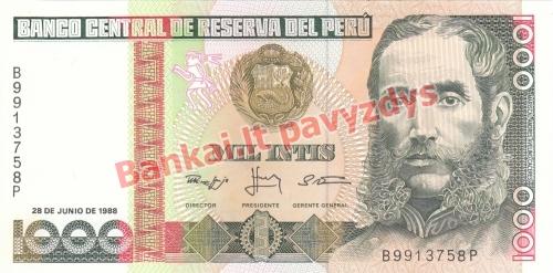 1000 Inčių banknoto priekinė pusė
