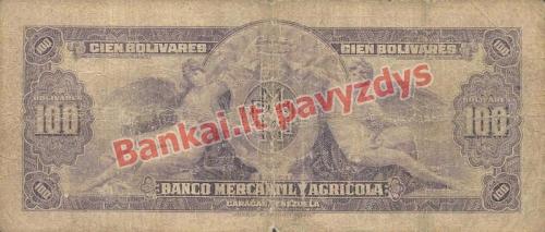 100 Bolivarų banknoto galinė pusė