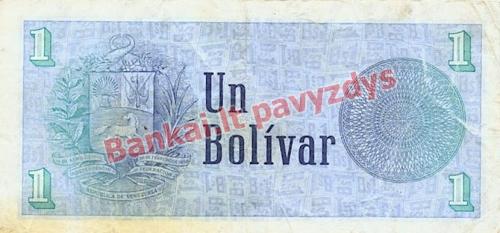 1 Bolivaro banknoto galinė pusė