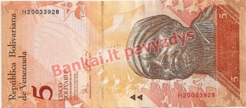 5 Bolivarų banknoto priekinė pusė