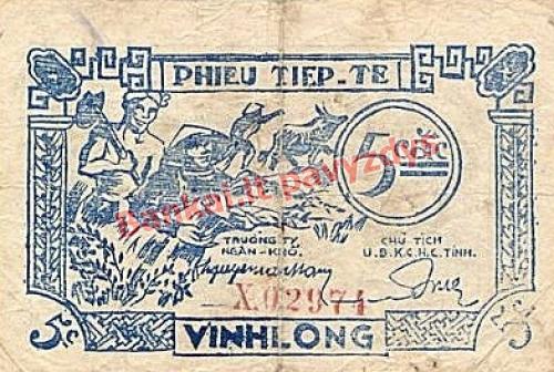 5 Cacų banknoto priekinė pusė