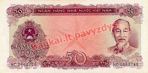 50 Dongų banknoto priekinė pusė
