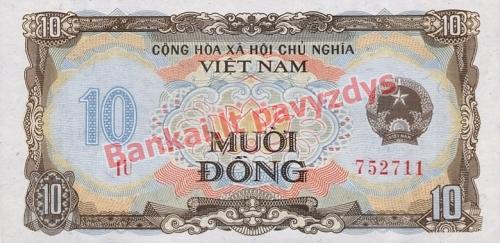 10 Dongų banknoto priekinė pusė