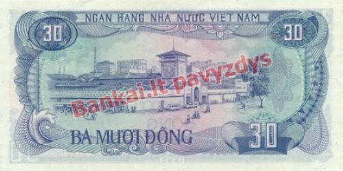 30 Dongų banknoto galinė pusė