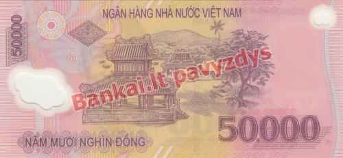 50000 Dongų banknoto galinė pusė