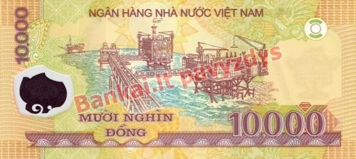 10000 Dongų banknoto galinė pusė
