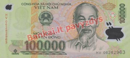 100000 Dongų banknoto priekinė pusė