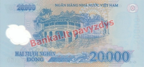 20000 Dongų banknoto galinė pusė