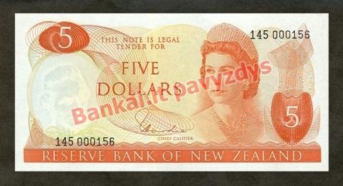 5 Dolerių banknoto priekinė pusė
