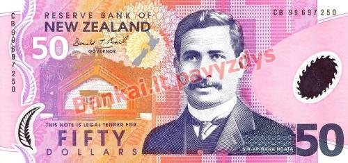 50 Dolerių banknoto priekinė pusė