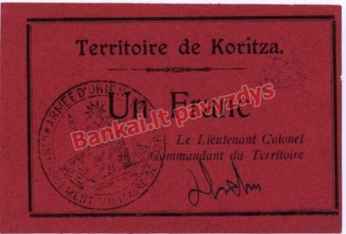 1 Franko banknoto priekinė pusė