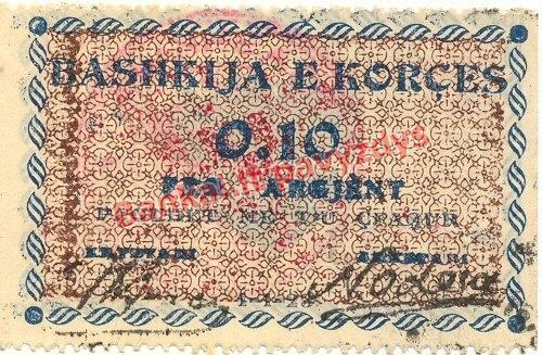 0.10 Frankų banknoto priekinė pusė