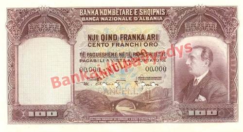100 Frankų banknoto priekinė pusė