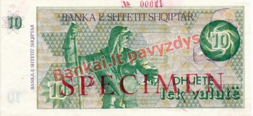 10 Lekų banknoto priekinė pusė