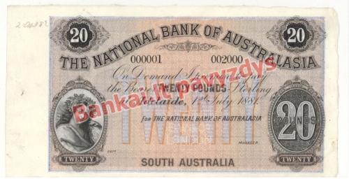 20 Svarų banknoto priekinė pusė