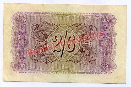 2 Šilingų banknoto galinė pusė