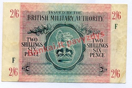 2 Šilingų banknoto priekinė pusė
