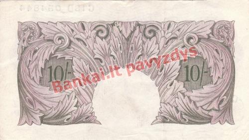 10 Šilingų banknoto galinė pusė