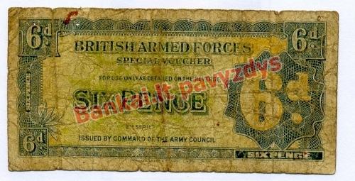 6 Pencų banknoto priekinė pusė