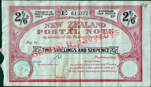 2.5 Šilingų banknoto priekinė pusė
