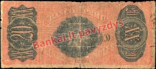 20 Solių banknoto galinė pusė