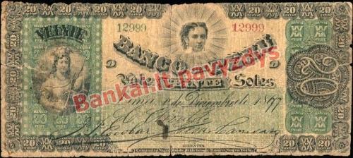 20 Solių banknoto priekinė pusė