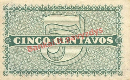 5 Centavų banknoto galinė pusė