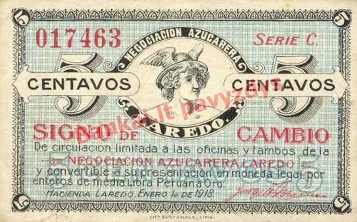 5 Centavų banknoto priekinė pusė