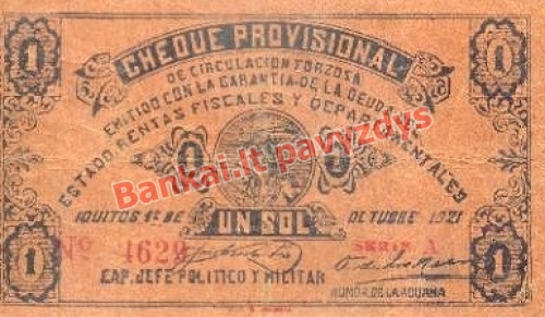 1 Solio banknoto priekinė pusė