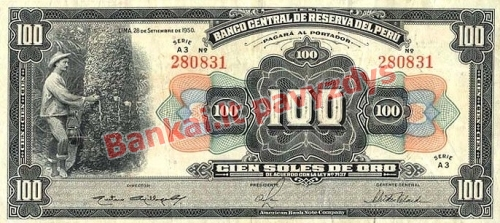 100 Solių banknoto priekinė pusė