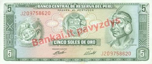 5 Soles  banknoto priekinė pusė