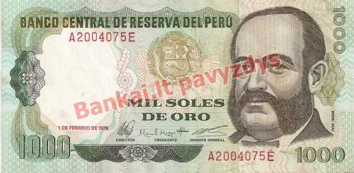 1000 Solių banknoto priekinė pusė