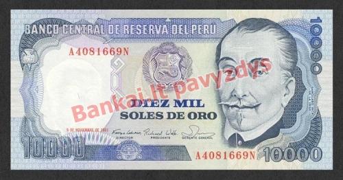 10000 Solių banknoto priekinė pusė