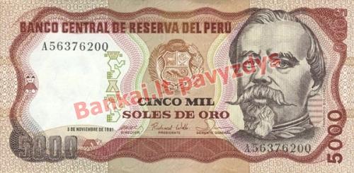 5000 Solių banknoto priekinė pusė